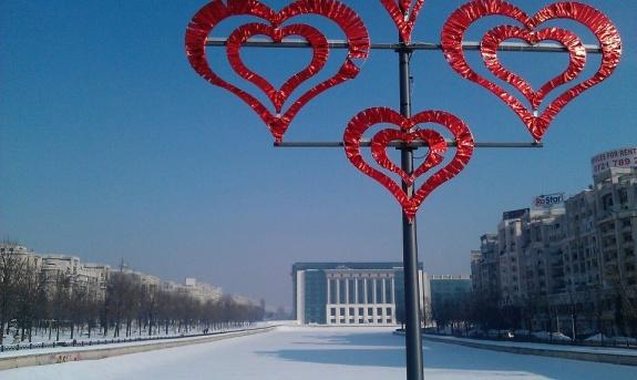 inima rosie pe cer