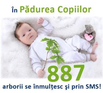SMS la 887 pentru Padurea Copiilor