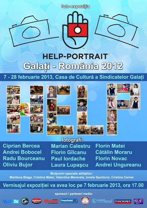 poster HELP PORTRAIT Galati