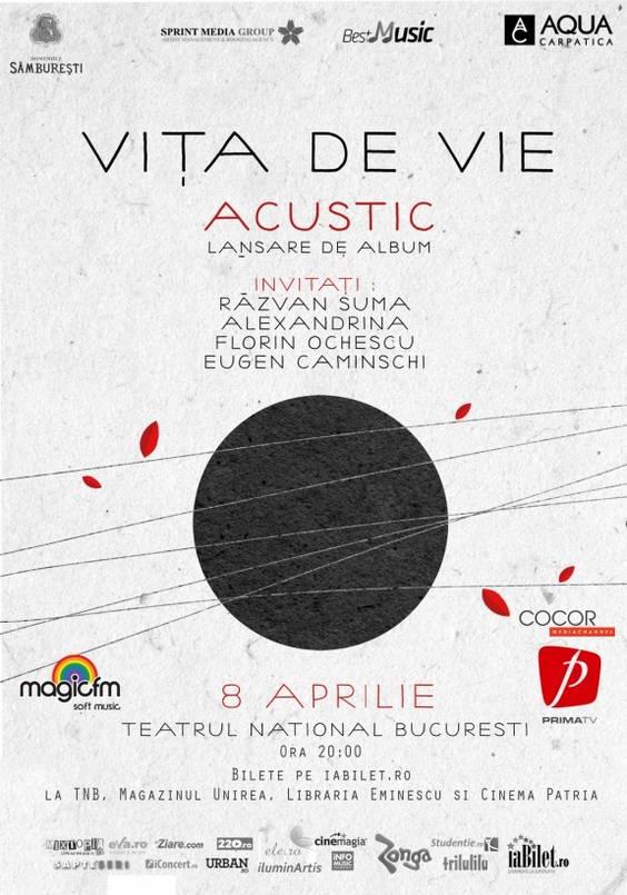 Vita-de-Vie-Poster- Lansare ACUSTIC