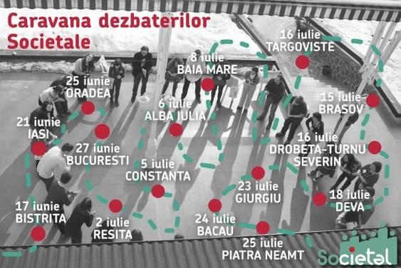 Afis Caravana Dezbaterilor Societal_25 iunie