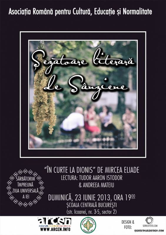 Afis Sezatoare literara de Sanziene- ARCEN