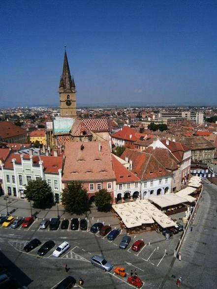 Piaţa Mică, vedere din Turnul Sfatului