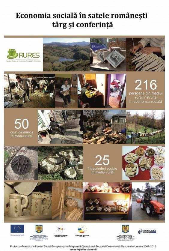 afis conferinta - Economia Sociala in satele romanesti