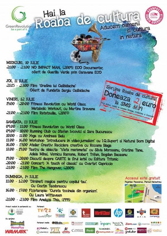 Program Roaba 8-14 iulie