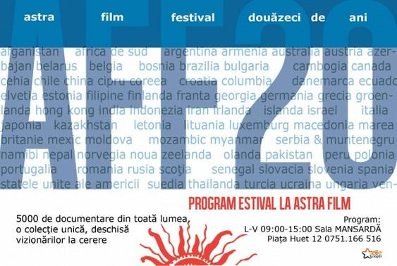 Program estival 2013 la Astra Film