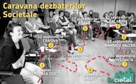 Afis Caravana dezbaterilor - editia II - mic