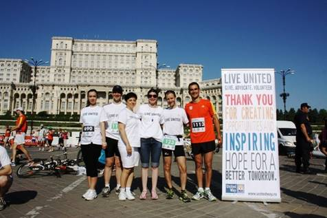 United Way runners, A team, BIHM 2013