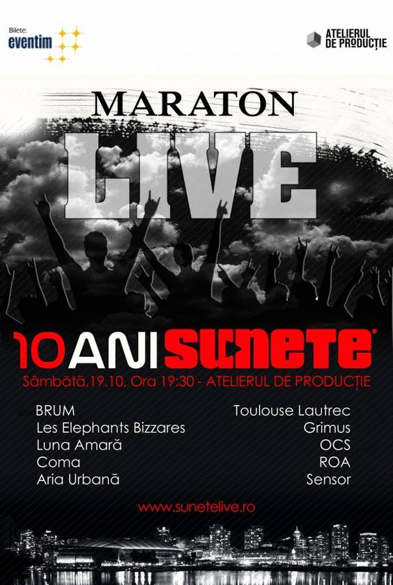 afis maraton sunete live