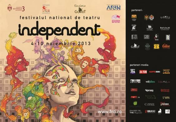 Afis festivalul national de teatru INDEPENDENT 2013