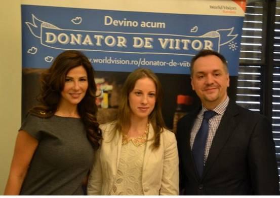 Oana Cuzino, Marina - beneficiar al World Vision si Catalin Popa - Direct National World Vision Romania