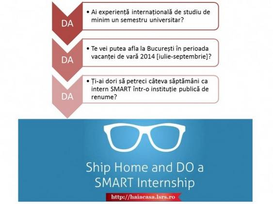 Criterii de incriere SMART Internships 2014