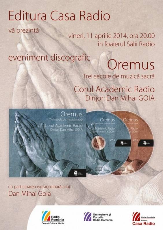 afis lansare Oremus
