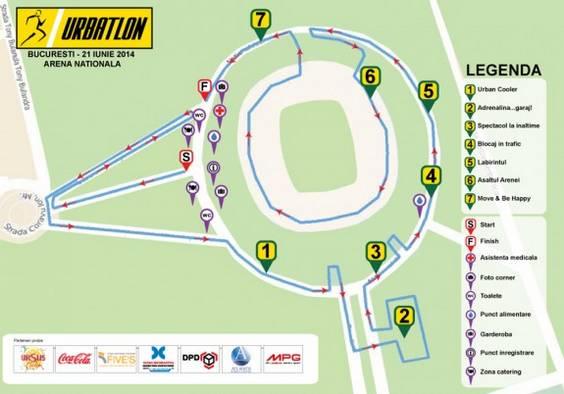 URBATLON 2014_harta traseu