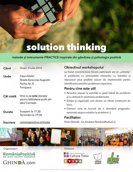 solution thinking Timisoara 4 iulie 2014