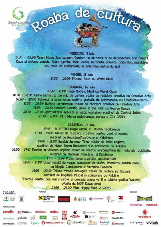 Afis Roaba de cultura 7 - 13 iulie