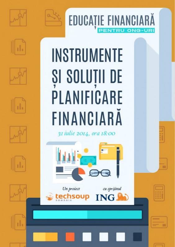 Afis webinar Educatie financiara