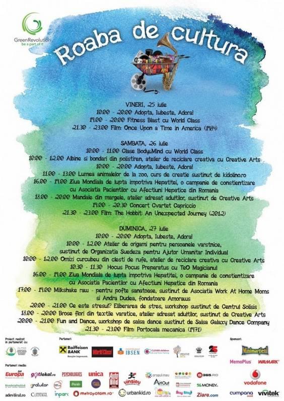 Program Roaba de cultura 21- 27 iulie