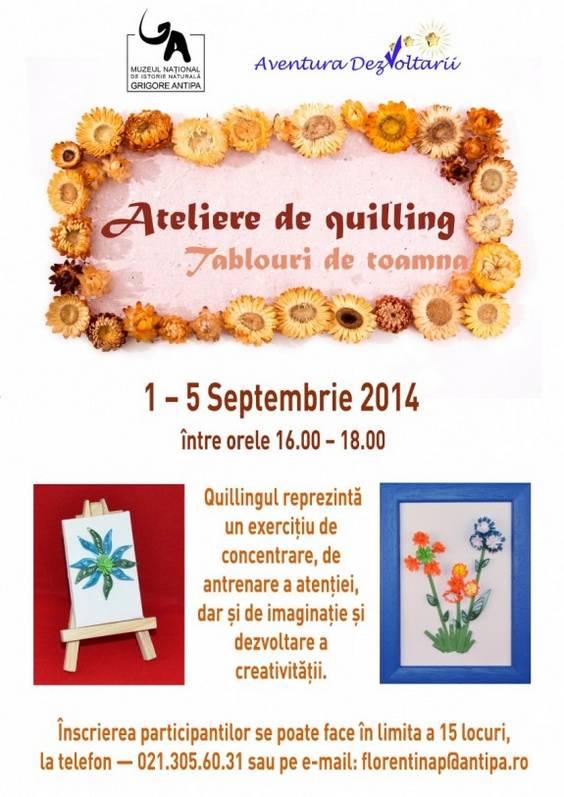 Ateliere de quilling - Tablouri de toamna