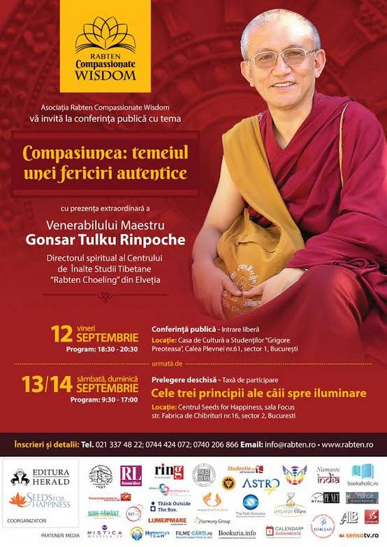 Afis web Gonsar Rinpoche in Romania