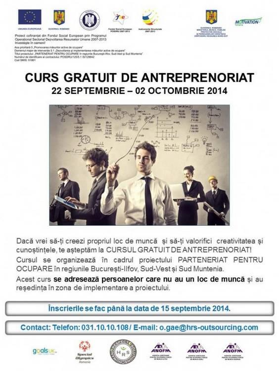 CURS GRATUIT DE ANTREPRENORIAT