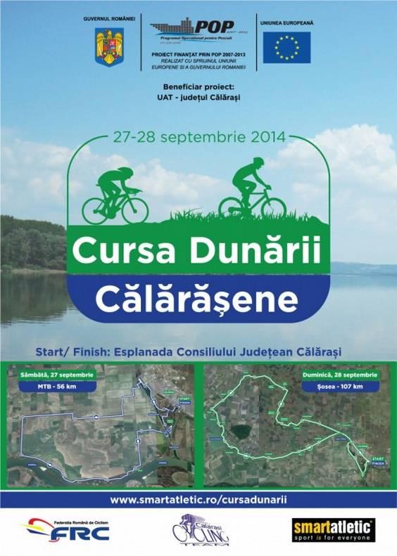 Poster Cursa Dunarii Calarasene 2014