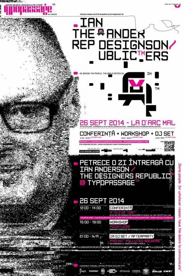 Timi oara conferin i workshop de design grafic cu ian for The designers republic