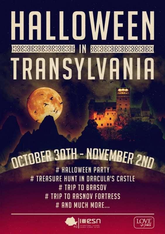 Afis Halloween in Transylvania 2014