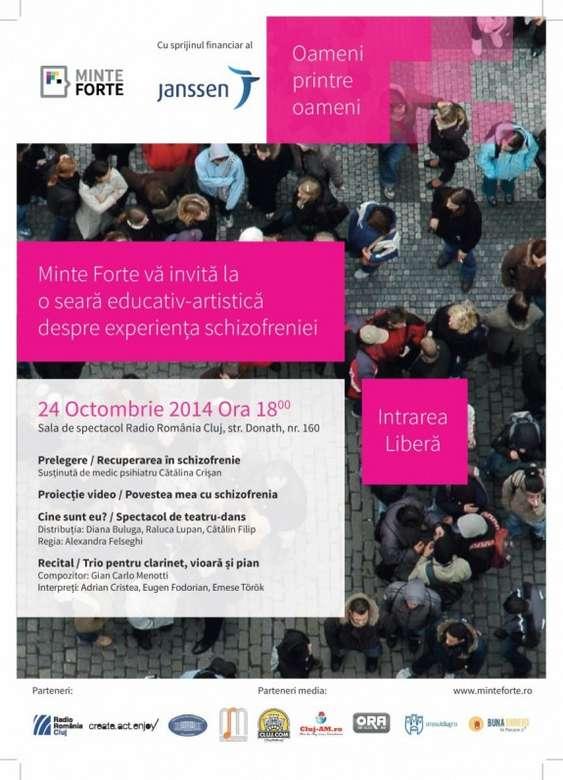 Afis Oameni printre oameni, octombrie 2014