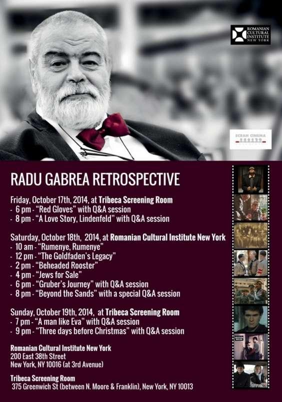 Radu Gabrea Retrospective program