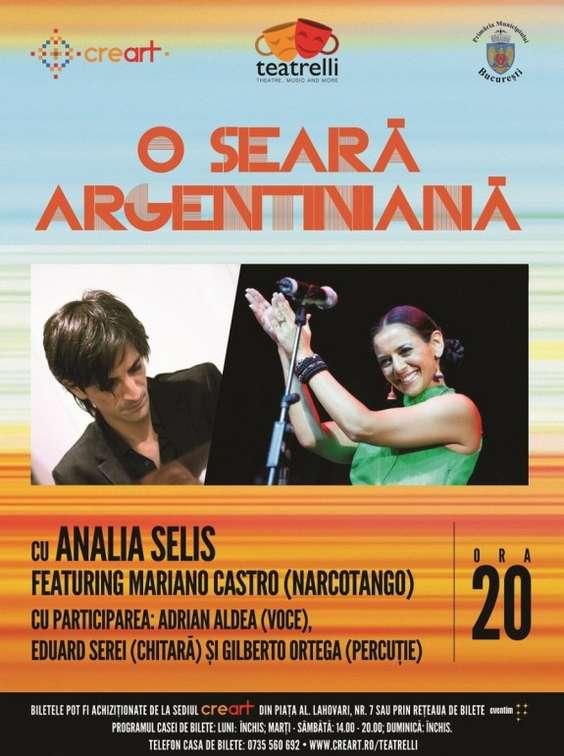 Afis concert Analia Selis