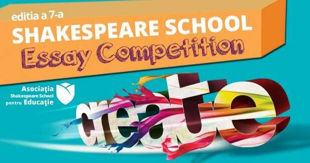 Shakespeare School Essay Competition dă start-ul celei de-a 7-a întreceri pentru creativitate