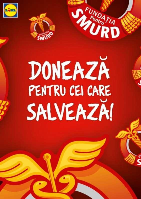 Lidl - Campania Doneaza pentru cei care salveaza!