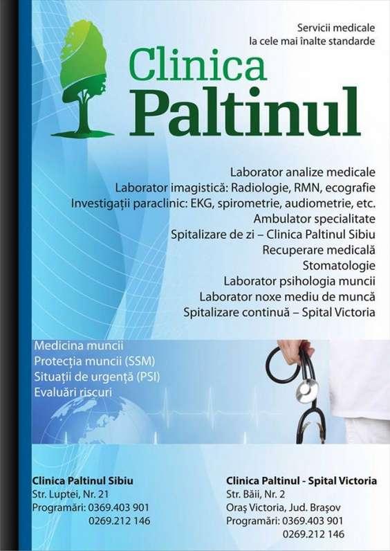 Servicii Clinica Paltinul Sibiu