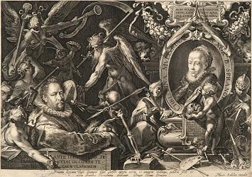 Aegidius Sadler - Portretul lui Bartolomeus Spranger si al sotiei sale Christina Muller, 1600