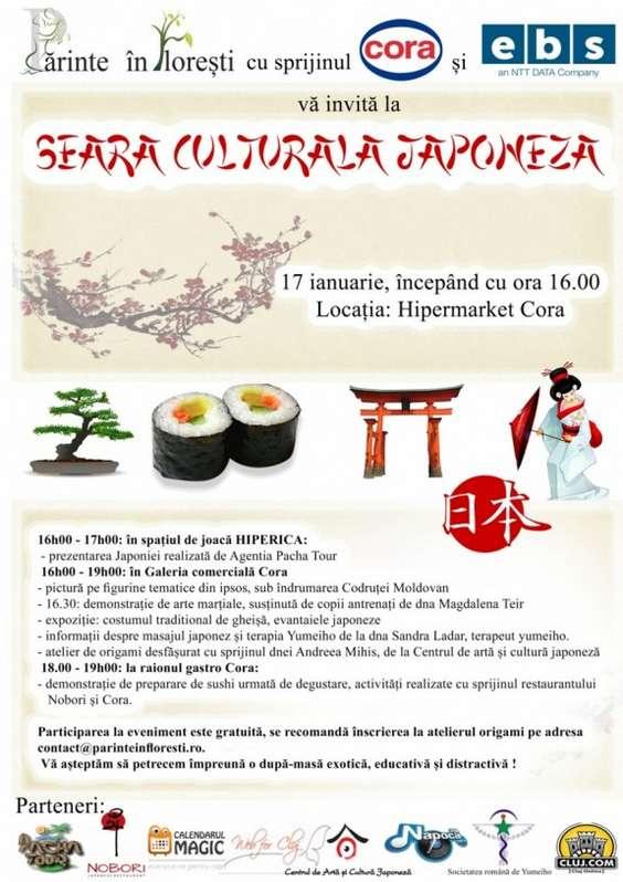 Afis Seara culturala japoneza