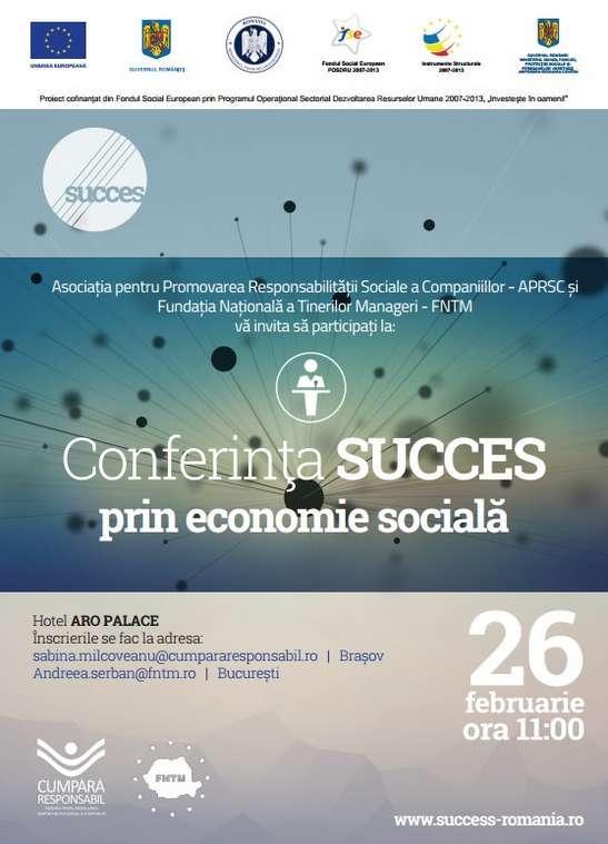 Afis_Conferinta Succes prin economie sociala