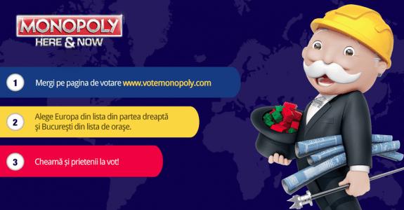 Romania pe harta Monopoly