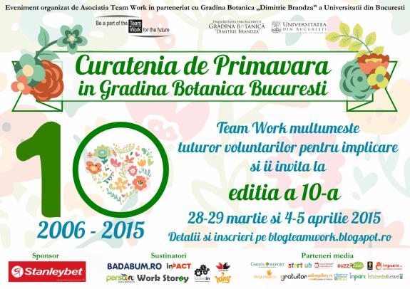 Afis Curatenia de Primavara in Gradina Botanica 2015