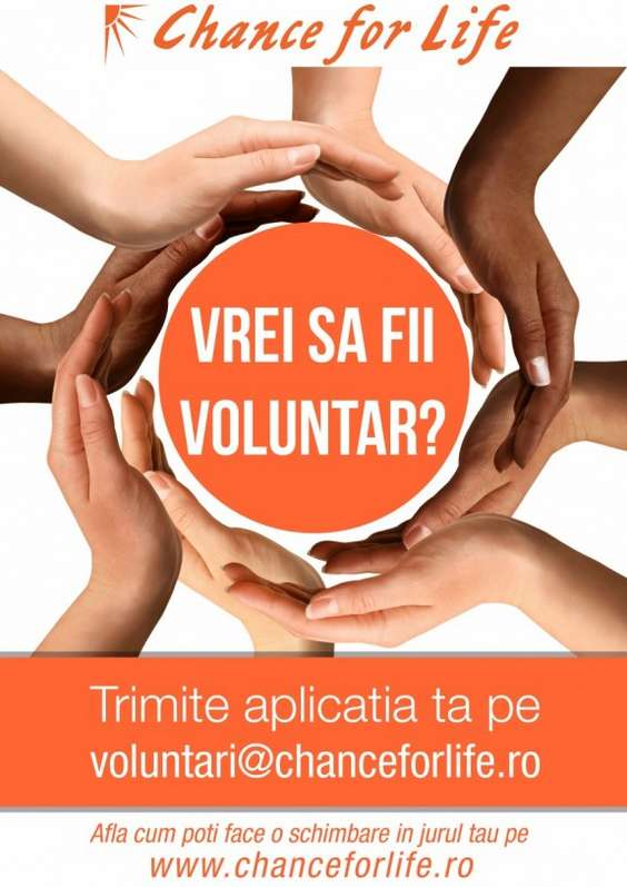 Chance for Life Vrei sa fii voluntar