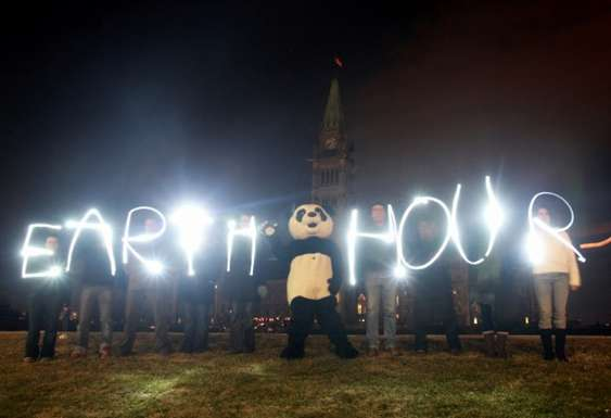 Earth Hour. Copyright WWF, Earth Hour Global