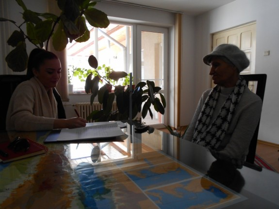 Madalina Oprea, studenta la Psihologie, si dna Ioana Petre