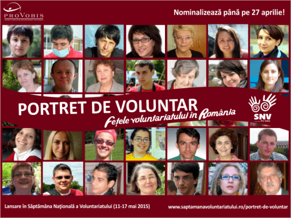 portret de voluntar