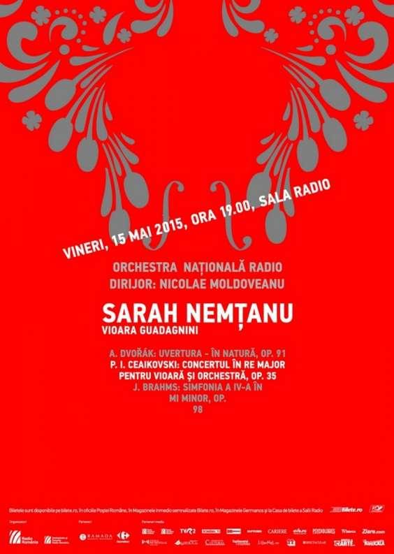 Afis Sarah Nemtanu cu ONR