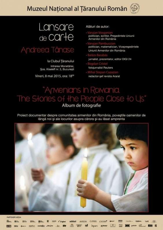 Afis lansare carte - proiect armeni NOU