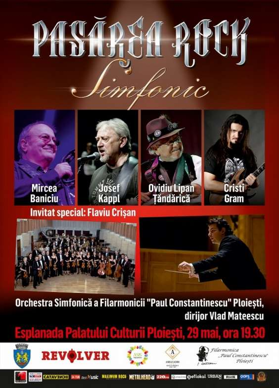 Poster PASAREA ROCK simfonic PLOIESTI E