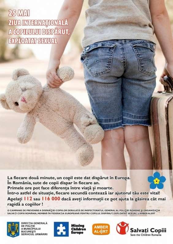 Poster - Ziua Internationala a Copiilor Disparuti