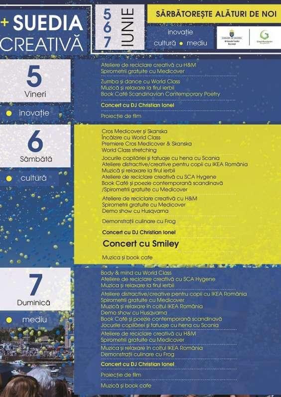 Program Suedia Creativa 5-7 iunie
