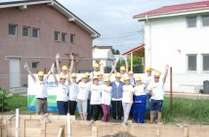 Raiffeisen Bank santier Habitat for Humanity