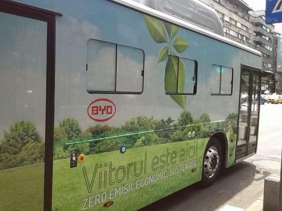 autobuz electric in probe bucuresti romaniapozitiva